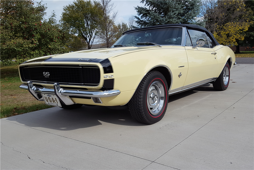 1967 CHEVROLET CAMARO RS/SS CONVERTIBLE - Front 3/4 - 212902