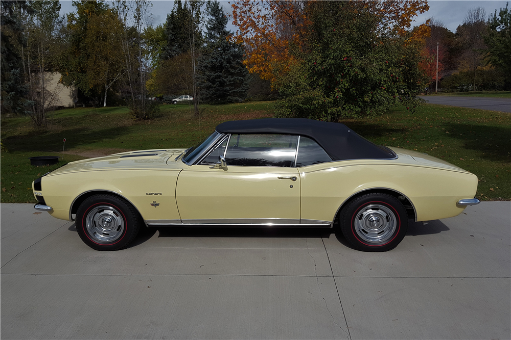 1967 CHEVROLET CAMARO RS/SS CONVERTIBLE - Side Profile - 212902