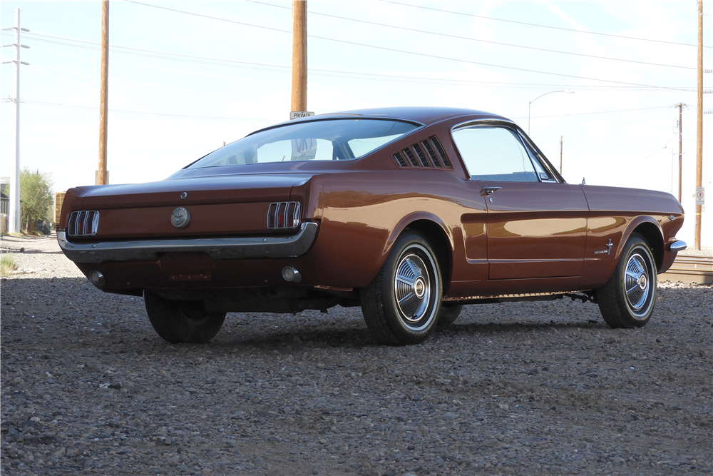1966 FORD MUSTANG FASTBACK - Rear 3/4 - 212912