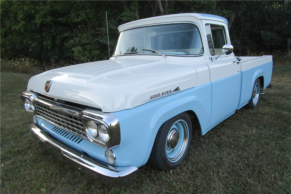 1958 FORD  CUSTOM PICKUP - Front 3/4 - 212959