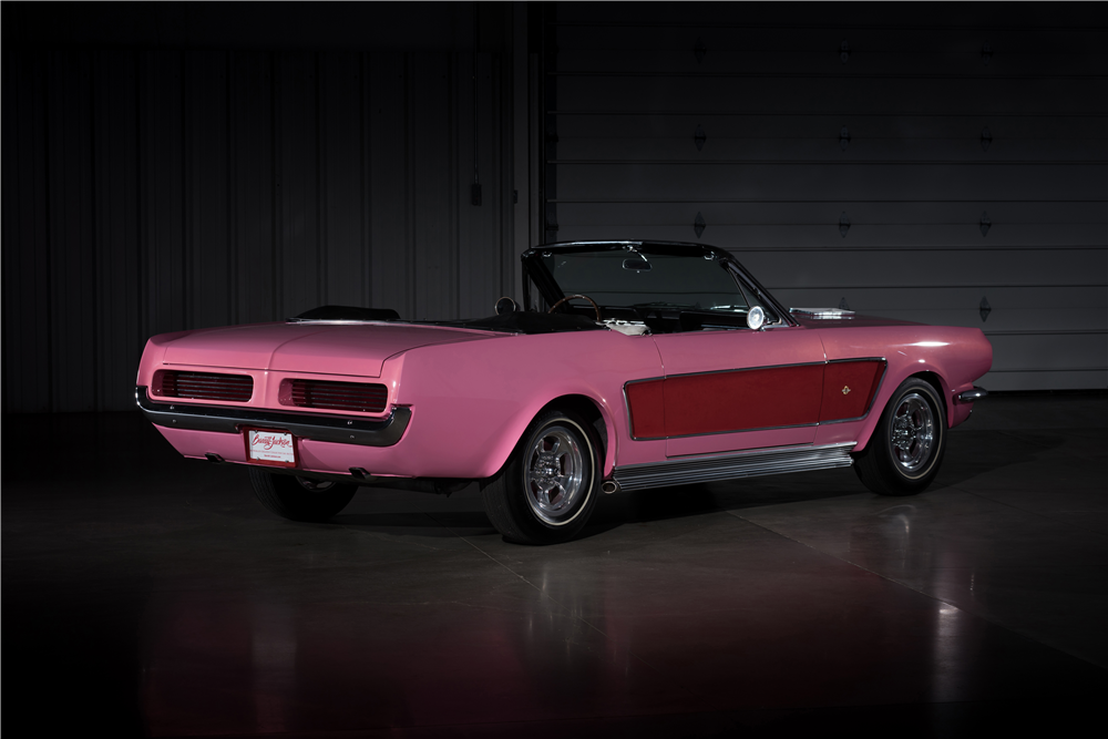 CHER'S 1966 FORD MUSTANG CUSTOM CONVERTIBLE - Rear 3/4 - 212974