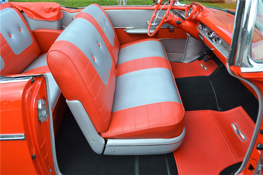 1957 CHEVROLET BEL AIR CONVERTIBLE - Interior - 213014
