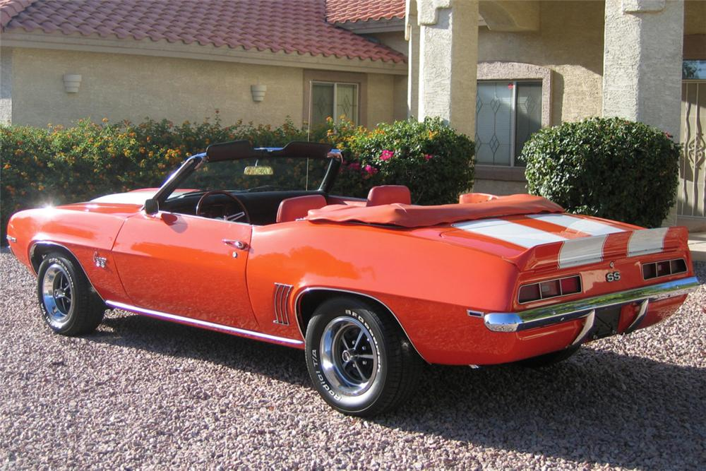 1969 CHEVROLET CAMARO CONVERTIBLE - Rear 3/4 - 21307