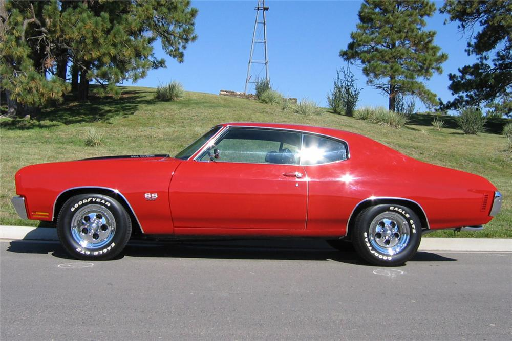 1970 CHEVROLET CHEVELLE SS 396 2 DOOR HARDTOP - Side Profile - 21312