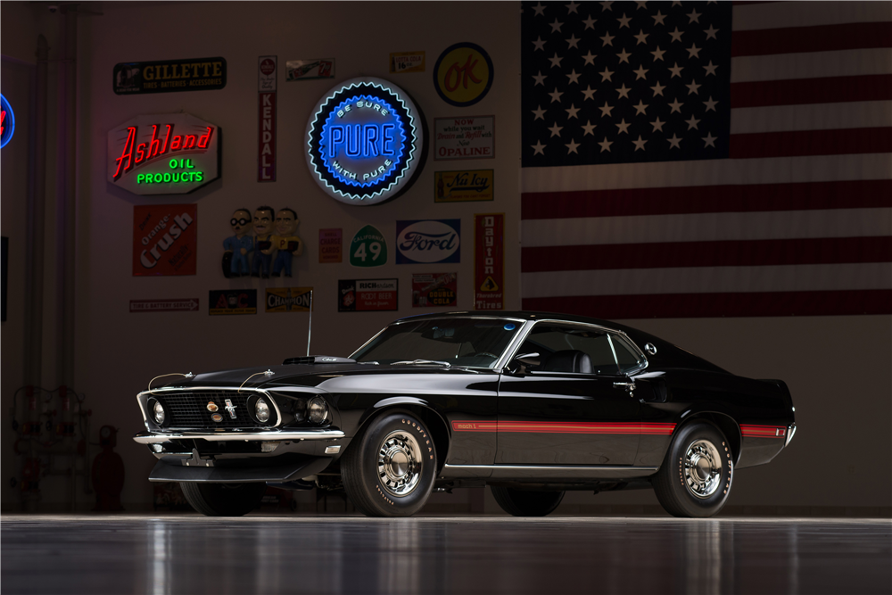 1969 FORD MUSTANG MACH 1 428 CJ - Front 3/4 - 213310