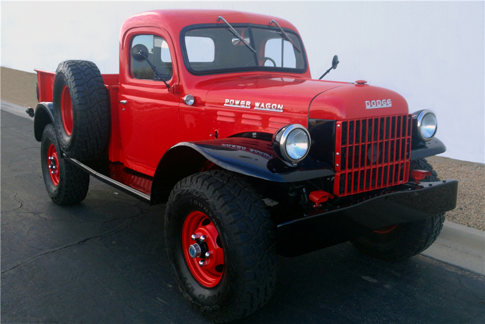 1947 DODGE POWER WAGON CUSTOM PICKUP - Front 3/4 - 213449