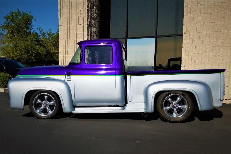 1956 FORD F-100 CUSTOM PICKUP - Side Profile - 213683