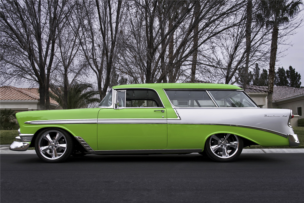 1956 CHEVROLET NOMAD CUSTOM WAGON - Side Profile - 213690