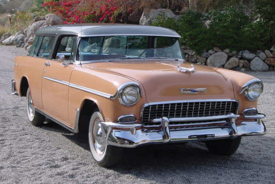 1955 CHEVROLET NOMAD STATION WAGON - Front 3/4 - 21375