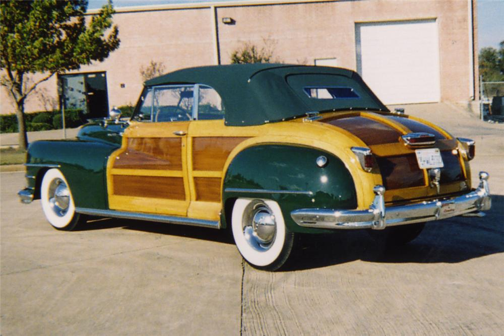 1948 CHRYSLER CONVERTIBLE - Rear 3/4 - 21380