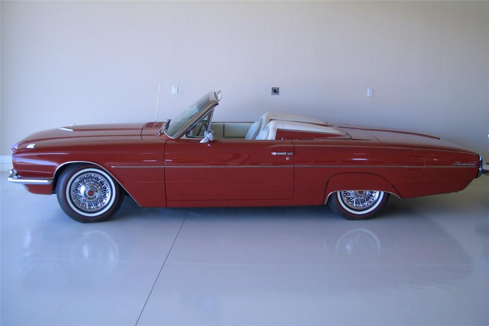 1966 FORD THUNDERBIRD CONVERTIBLE - Side Profile - 21389