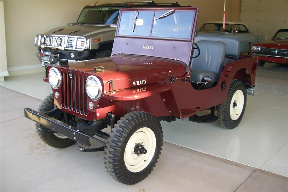 1947 JEEP WILLYS CONVERTIBLE - Front 3/4 - 21390