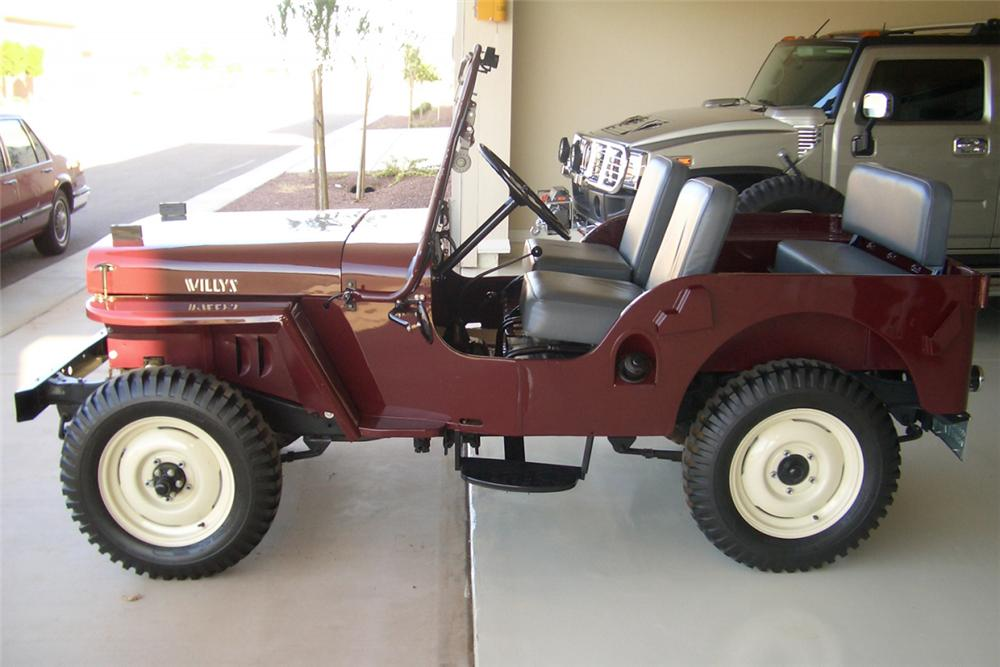 1947 JEEP WILLYS CONVERTIBLE - Side Profile - 21390