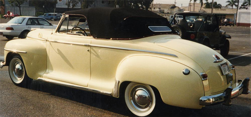 1948 PLYMOUTH SPECIAL DELUXE CONVERTIBLE - Rear 3/4 - 21400