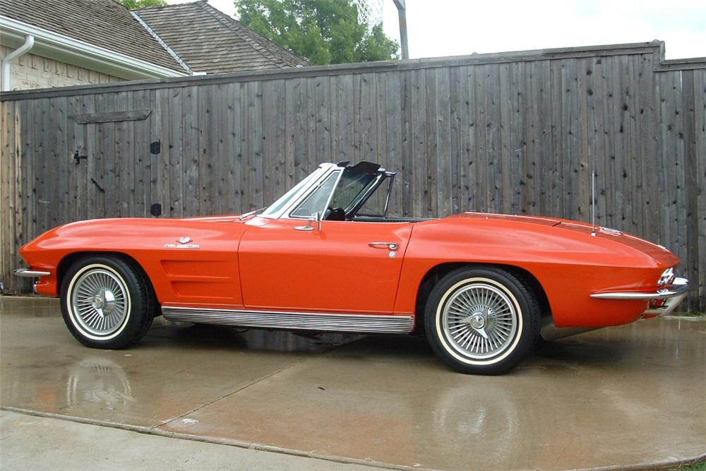 1963 CHEVROLET CORVETTE FI STINGRAY CONVERTIBLE - Front 3/4 - 21443