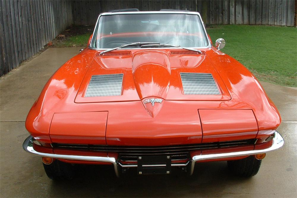 1963 CHEVROLET CORVETTE FI STINGRAY CONVERTIBLE - Side Profile - 21443