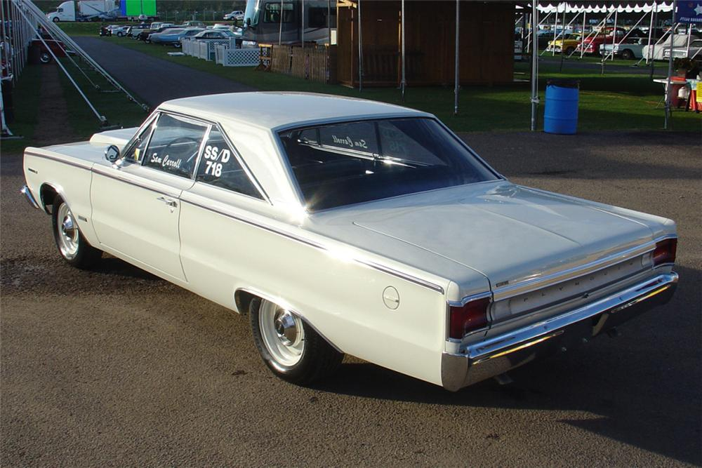 1967 PLYMOUTH BELVEDERE RP 23 FACTORY SUPER STOCK - Rear 3/4 - 21452