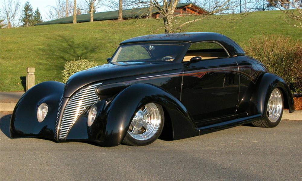 1937 FORD ROADSTER STREET ROD - Front 3/4 - 21472