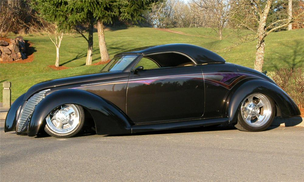 1937 FORD ROADSTER STREET ROD - Side Profile - 21472