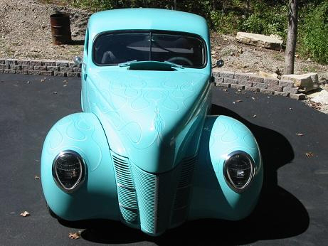 1940 FORD DELUXE CUSTOM COUPE - Front 3/4 - 21480
