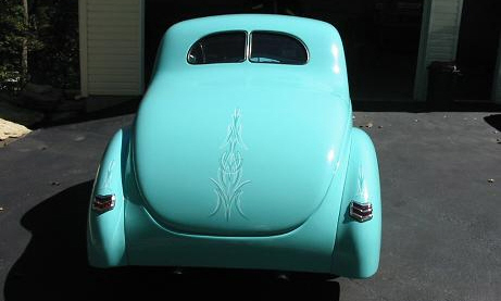 1940 FORD DELUXE CUSTOM COUPE - Rear 3/4 - 21480