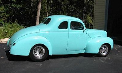 1940 FORD DELUXE CUSTOM COUPE - Side Profile - 21480