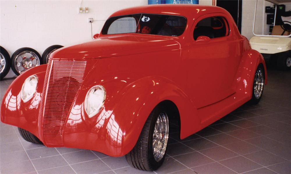 1937 ford custom 2 door coupe 21484 for 1937 ford 2 door sedan
