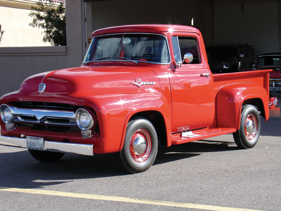 1956 FORD F-100 PICKUP - Front 3/4 - 21491