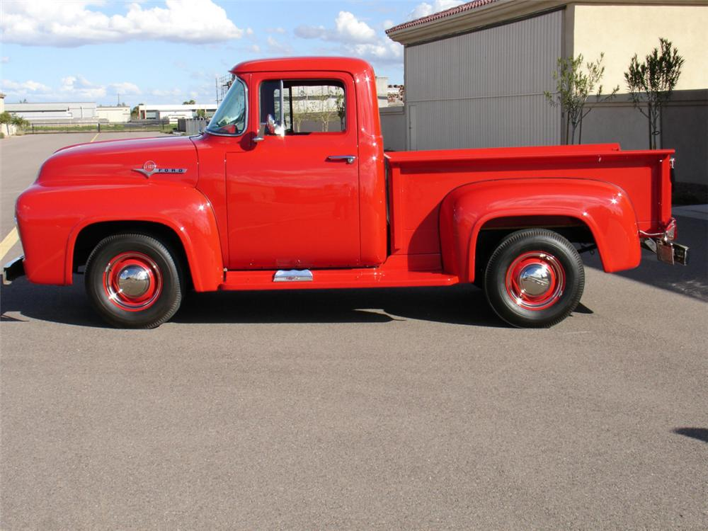 1956 FORD F-100 PICKUP - Side Profile - 21491