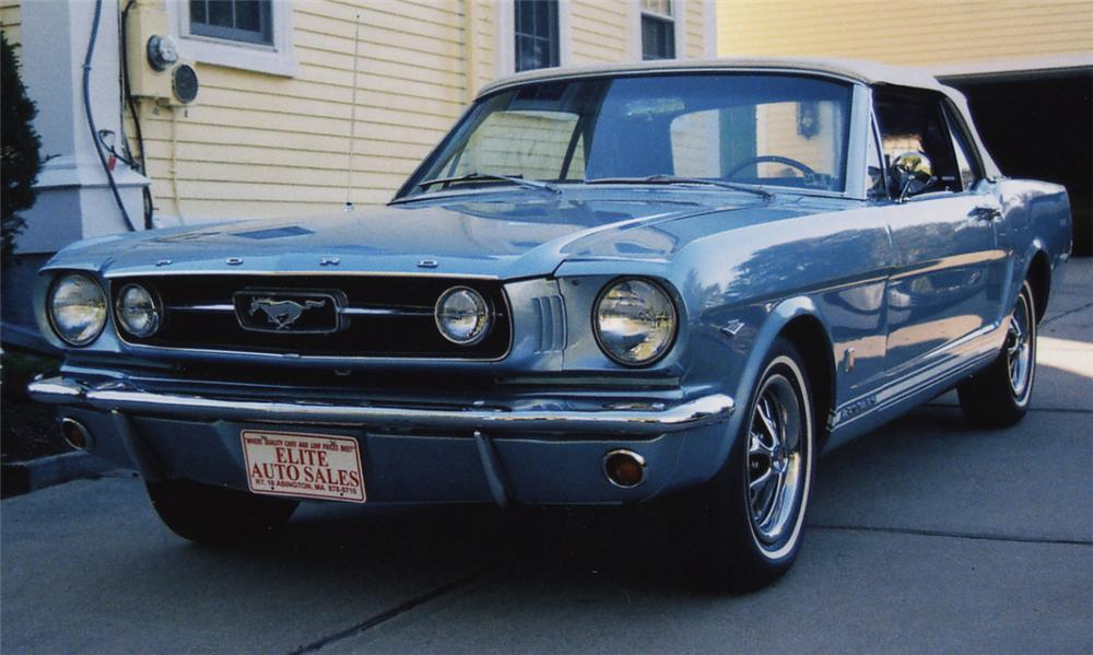 1966 FORD MUSTANG GT CONVERTIBLE - Front 3/4 - 21504