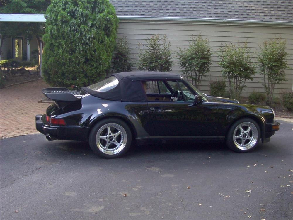 1989 PORSCHE 930 TURBO CABRIOLET - Side Profile - 21511