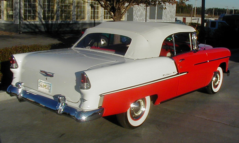 1955 CHEVROLET BEL AIR CONVERTIBLE - Rear 3/4 - 21518