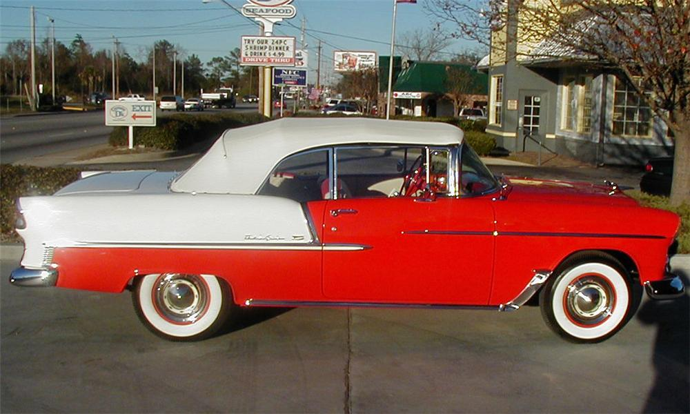 1955 CHEVROLET BEL AIR CONVERTIBLE - Side Profile - 21518
