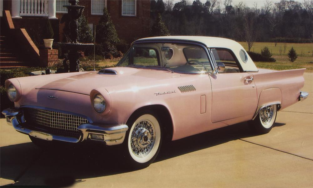 1957 FORD THUNDERBIRD CONVERTIBLE - Front 3/4 - 21539