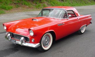 1955 FORD THUNDERBIRD CONVERTIBLE - Front 3/4 - 21564