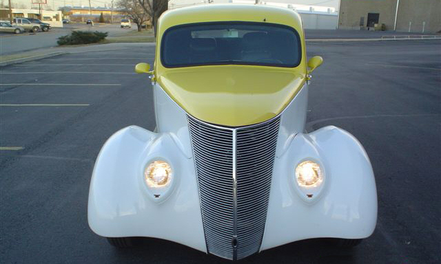 1937 FORD STREET ROD COUPE - Side Profile - 21575