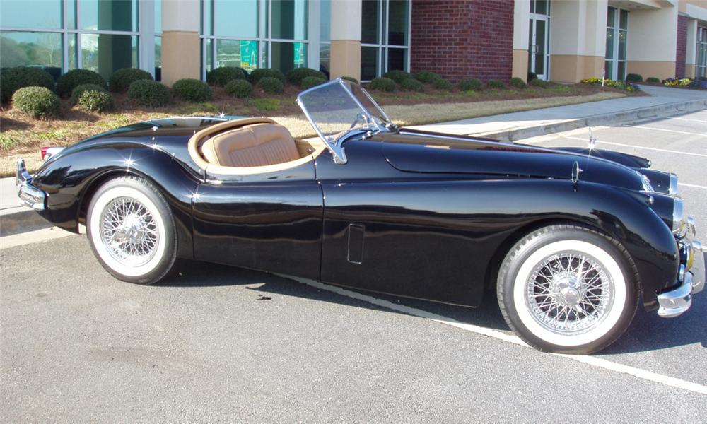 ... 1955 JAGUAR XK 140 2 DOOR ROADSTER   Front 3/4   21578 ...