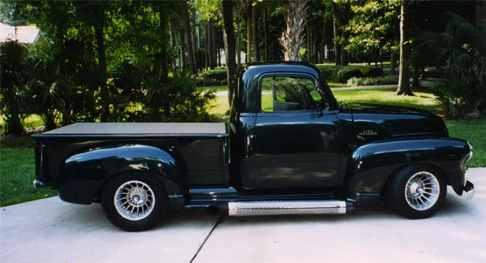 1955 CHEVROLET 3100 PICKUP - Side Profile - 21584