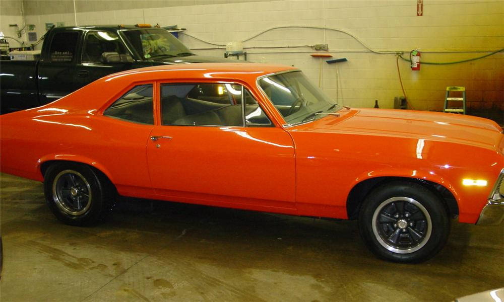 1970 CHEVROLET NOVA COUPE - Side Profile - 21591