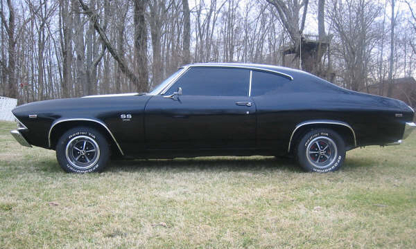 1969 CHEVROLET CHEVELLE SS COUPE - Side Profile - 21592