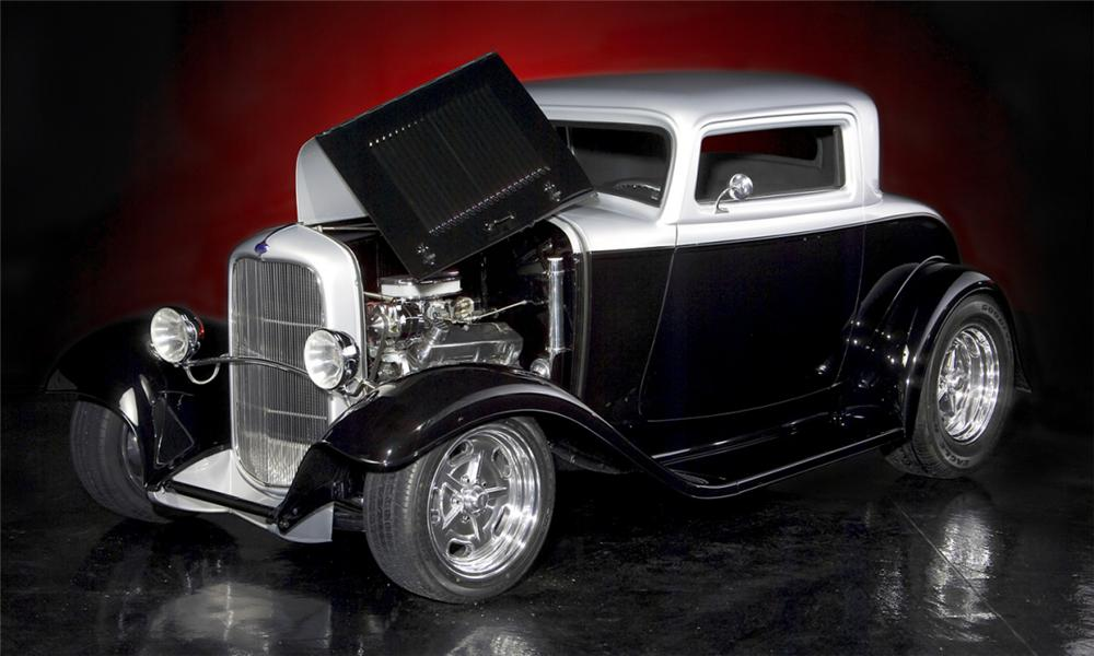1932 FORD CUSTOM 3 WINDOW COUPE - Engine - 21600