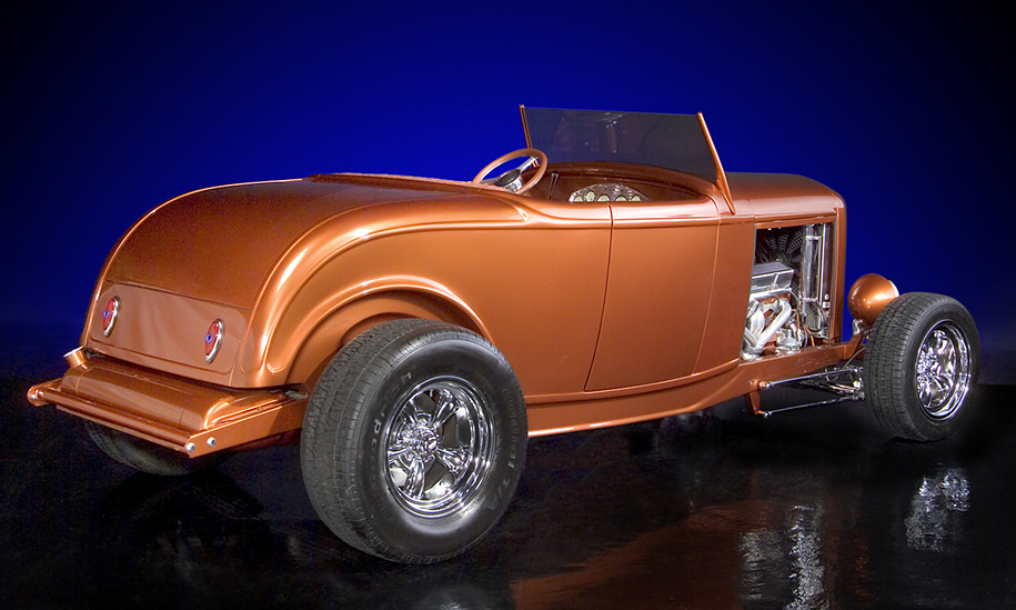 1932 FORD CUSTOM HI-BOY - Rear 3/4 - 21601