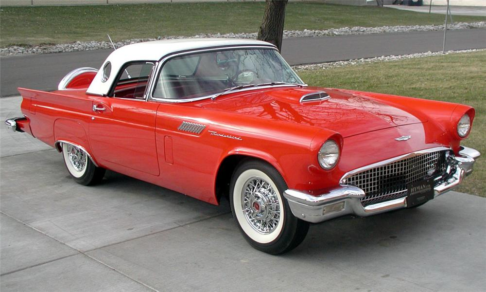 1957 FORD THUNDERBIRD CONVERTIBLE - Front 3/4 - 21620
