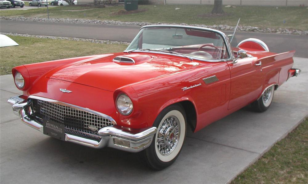 1957 FORD THUNDERBIRD CONVERTIBLE - Side Profile - 21620