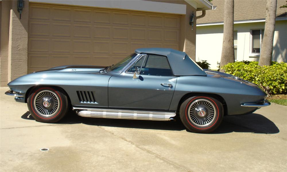 1967 CHEVROLET CORVETTE 427/400 CONVERTIBLE - Side Profile - 21621