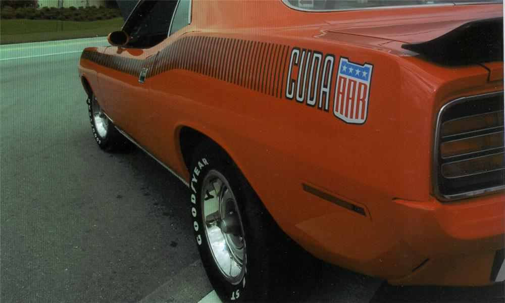 1970 PLYMOUTH CUDA AAR 2 DOOR HARDTOP - Side Profile - 21648
