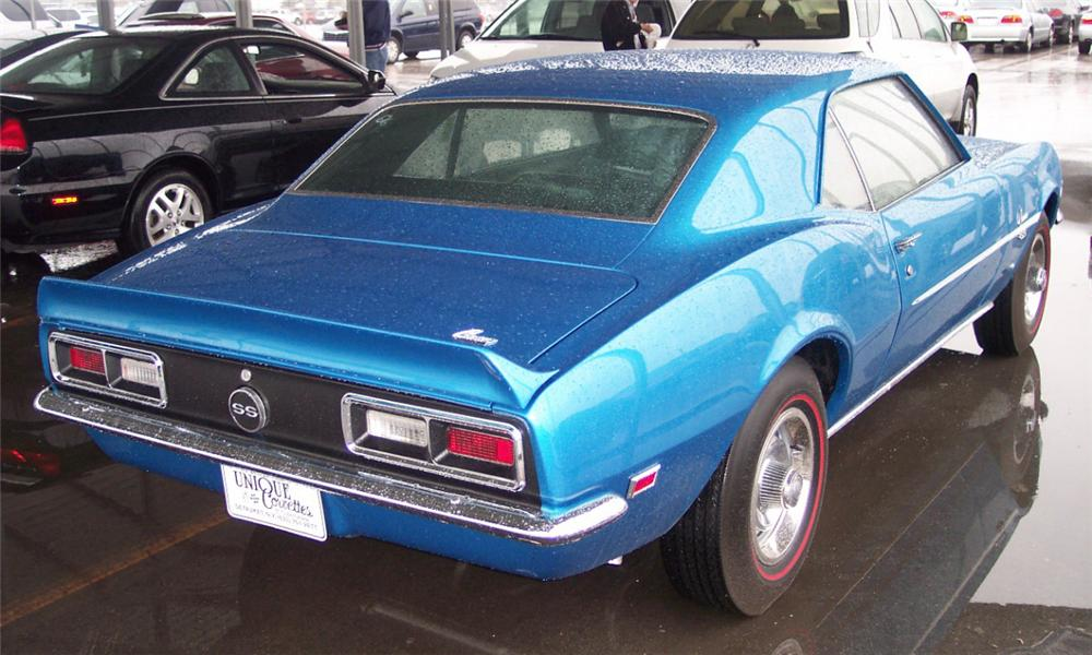 1968 CHEVROLET CAMARO SS COUPE - Rear 3/4 - 21650