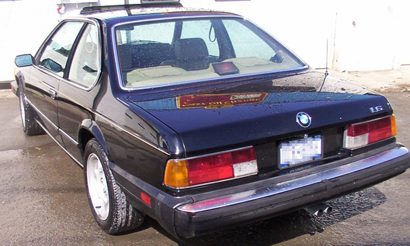 1987 BMW 635 L6 COUPE - Rear 3/4 - 21656
