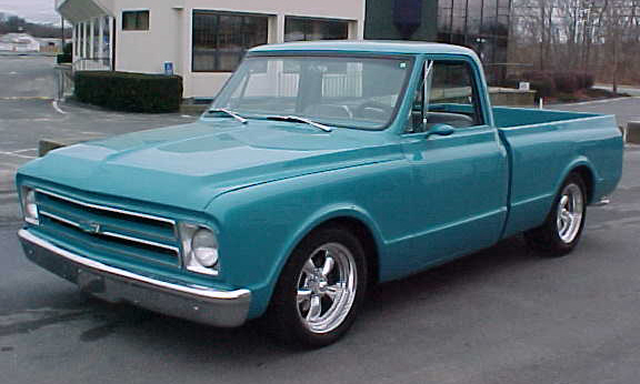 1968 CHEVROLET CUSTOM PICKUP - Side Profile - 21664
