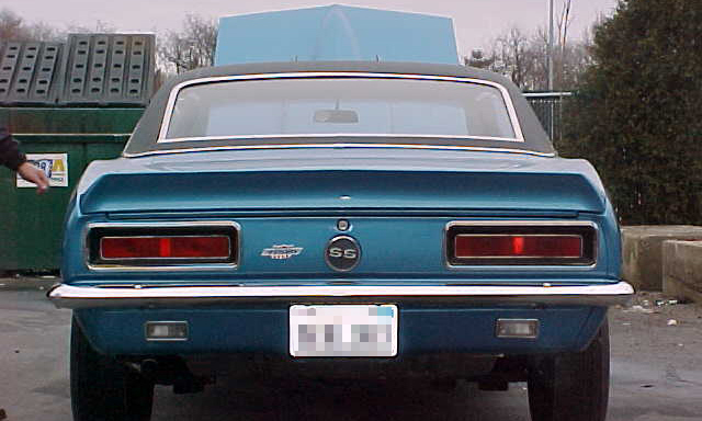 1967 CHEVROLET CAMARO RS/SS COUPE - Rear 3/4 - 21666